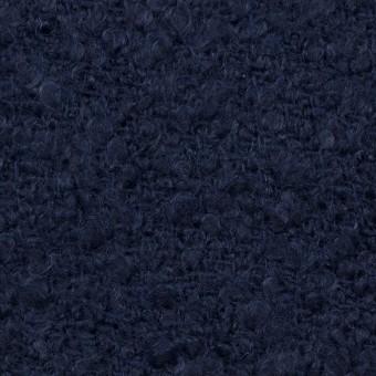 ウール&アクリル混×無地(ネイビー)×ファンシーツイード サムネイル1