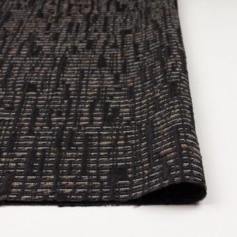 ポリエステル&レーヨン混×幾何学模様(モカ&ブラック)×ジャガード サムネイル3