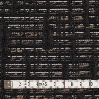 ポリエステル&レーヨン混×幾何学模様(モカ&ブラック)×ジャガード サムネイル4