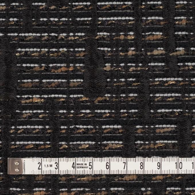 ポリエステル&レーヨン混×幾何学模様(モカ&ブラック)×ジャガード イメージ4
