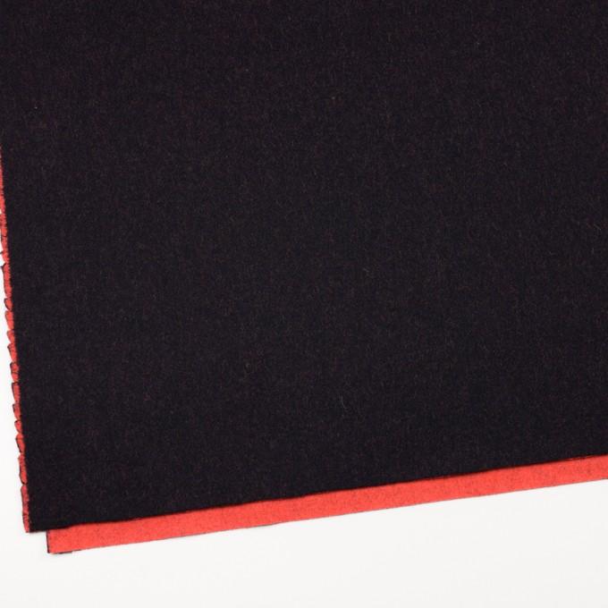 ウール&ナイロン×無地(ブラック&パッションオレンジ)×かわり織_全2色 イメージ2