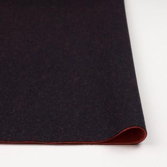 ウール&ナイロン×無地(ブラック&パッションオレンジ)×かわり織_全2色 サムネイル3