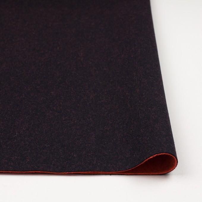 ウール&ナイロン×無地(ブラック&パッションオレンジ)×かわり織_全2色 イメージ3