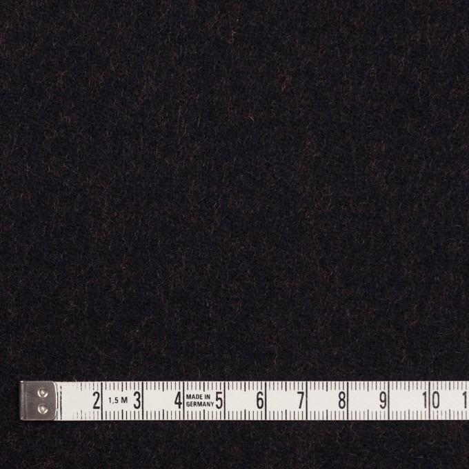ウール&ナイロン×無地(ブラック&パッションオレンジ)×かわり織_全2色 イメージ4