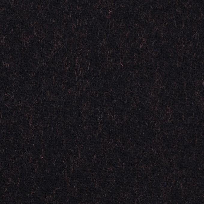 ウール&ナイロン×無地(ブラック&パッションオレンジ)×かわり織_全2色 イメージ1