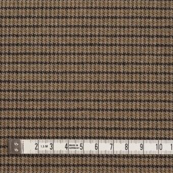 ポリエステル&レーヨン混×チェック(モカ)×サージストレッチ サムネイル4