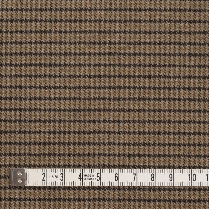 ポリエステル&レーヨン混×チェック(モカ)×サージストレッチ イメージ4