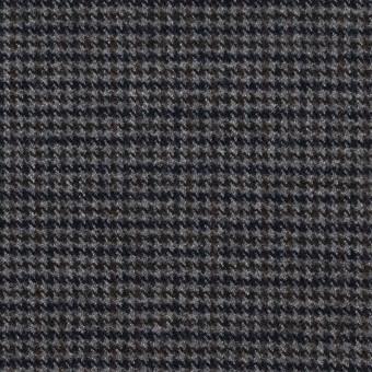 ポリエステル&レーヨン混×チェック(グレー)×サージストレッチ サムネイル1