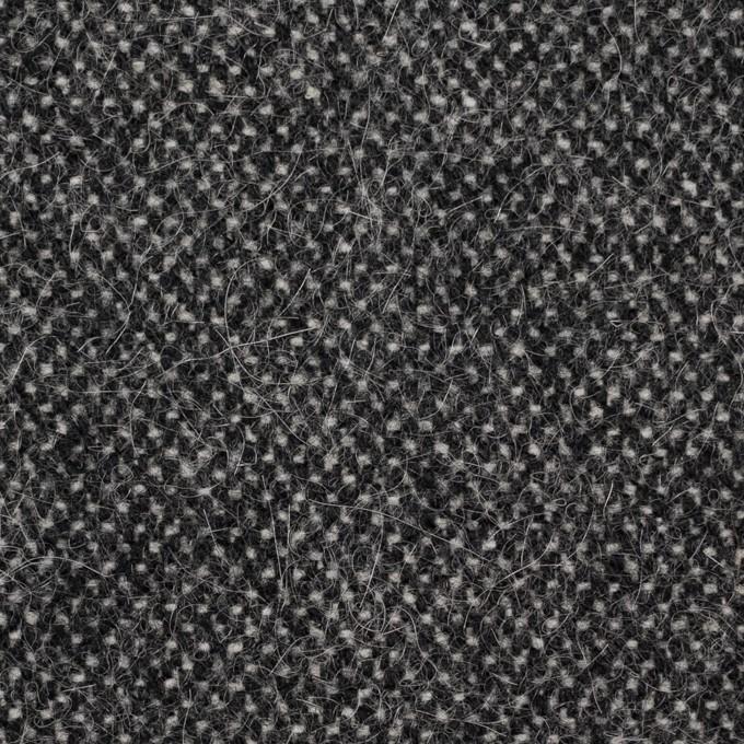ウール&ナイロン×ミックス(アイボリー&ブラック)×ツイード イメージ1