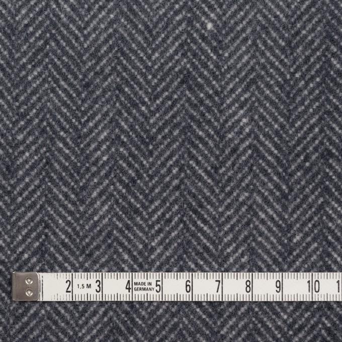 ウール&ナイロン×ミックス(ブルーグレー)×ヘリンボーン_全2色 イメージ4