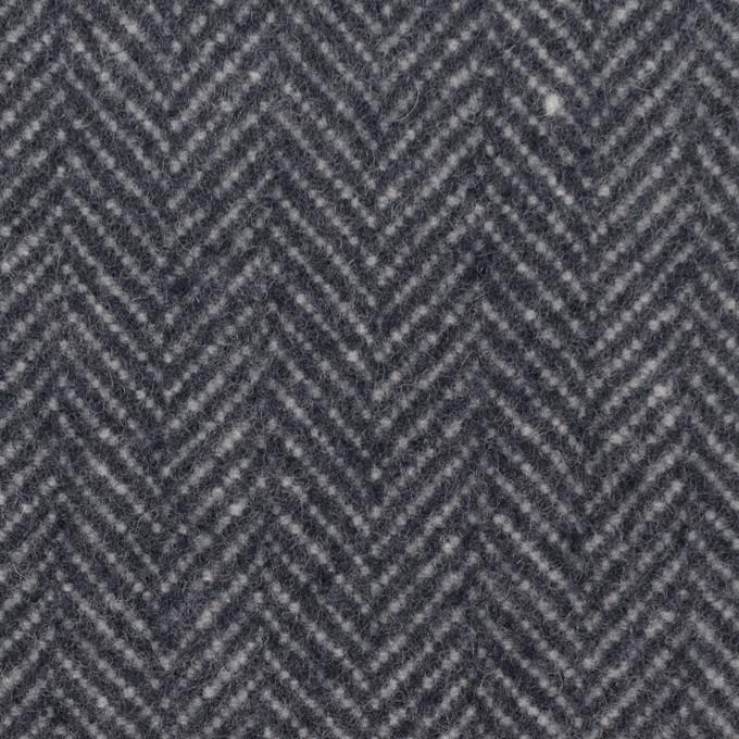 ウール&ナイロン×ミックス(ブルーグレー)×ヘリンボーン_全2色 イメージ1