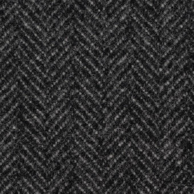 ウール&ナイロン×ミックス(チャコールグレー)×ヘリンボーン_全2色 イメージ1