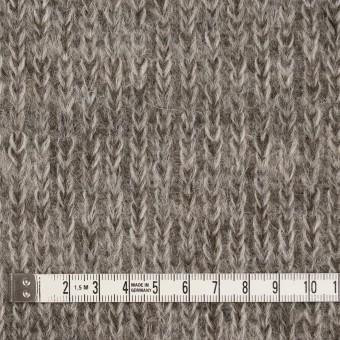 モヘア&ウール混×無地(グレイッシュベージュ)×バルキーニット_全3色_イタリア製 サムネイル4