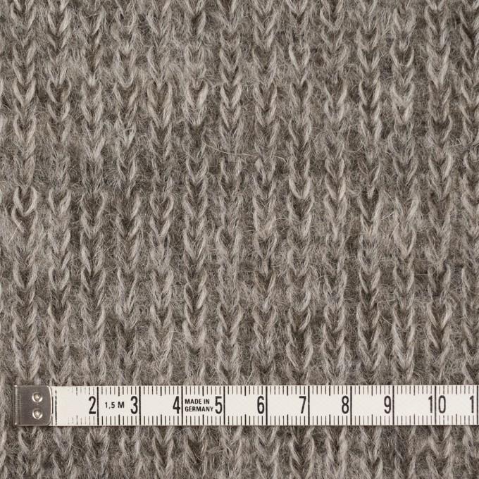 モヘア&ウール混×無地(グレイッシュベージュ)×バルキーニット_全3色_イタリア製 イメージ4