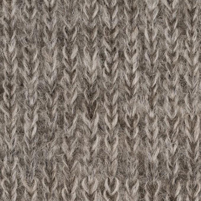 モヘア&ウール混×無地(グレイッシュベージュ)×バルキーニット_全3色_イタリア製 イメージ1