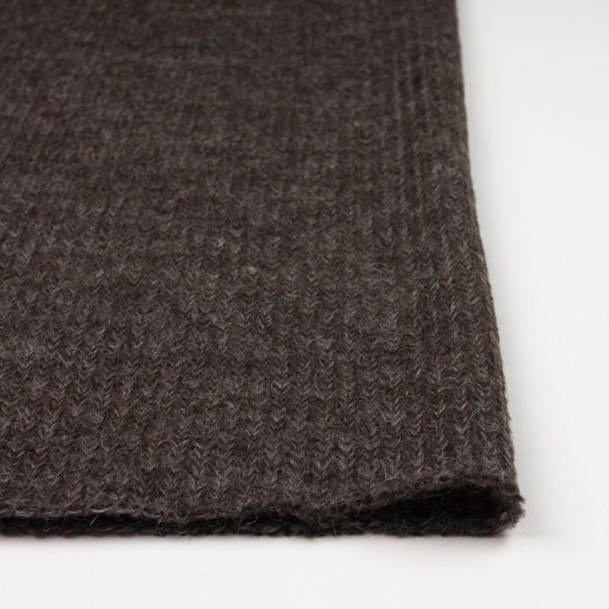 モヘア&ウール混×無地(ダークブラウン)×バルキーニット_全3色_イタリア製 イメージ3
