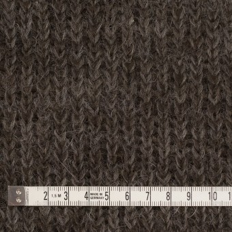 モヘア&ウール混×無地(ダークブラウン)×バルキーニット_全3色_イタリア製 サムネイル4