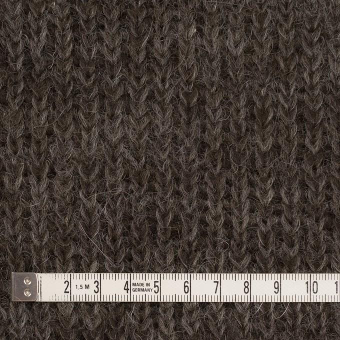 モヘア&ウール混×無地(ダークブラウン)×バルキーニット_全3色_イタリア製 イメージ4
