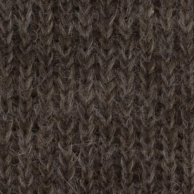 モヘア&ウール混×無地(ダークブラウン)×バルキーニット_全3色_イタリア製 イメージ1