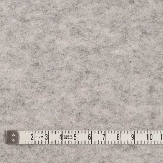 ウール&アクリル混×無地(ライトグレー)×ループニット イメージ4