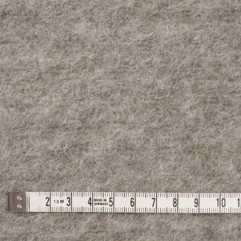 モヘア&ウール混×無地(グレイッシュベージュ)×ループニット_イタリア製 サムネイル4