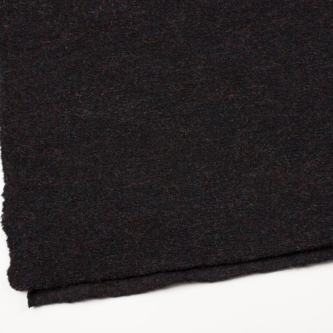 モヘア&ウール混×ミックス(チャコール)×ループニット_イタリア製 イメージ2