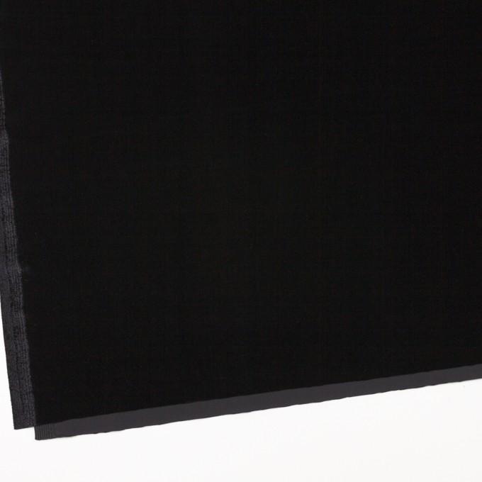ポリエステル&ポリウレタン×無地(ブラック)×ニットベロア イメージ2