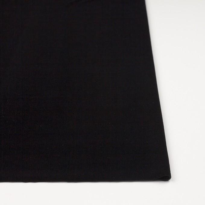 ポリエステル&ポリウレタン×無地(ブラック)×ニットベロア イメージ3