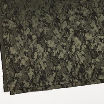 レーヨン&ウール混×幾何学模様(カーキグリーン&チャコール)×ジャガード サムネイル2