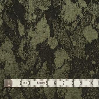 レーヨン&ウール混×幾何学模様(カーキグリーン&チャコール)×ジャガード サムネイル4