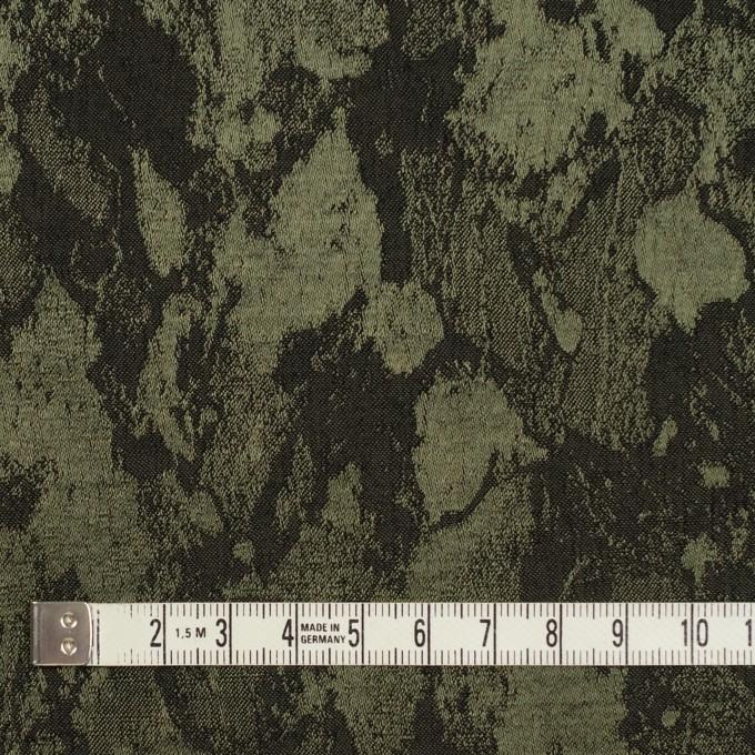 レーヨン&ウール混×幾何学模様(カーキグリーン&チャコール)×ジャガード イメージ4