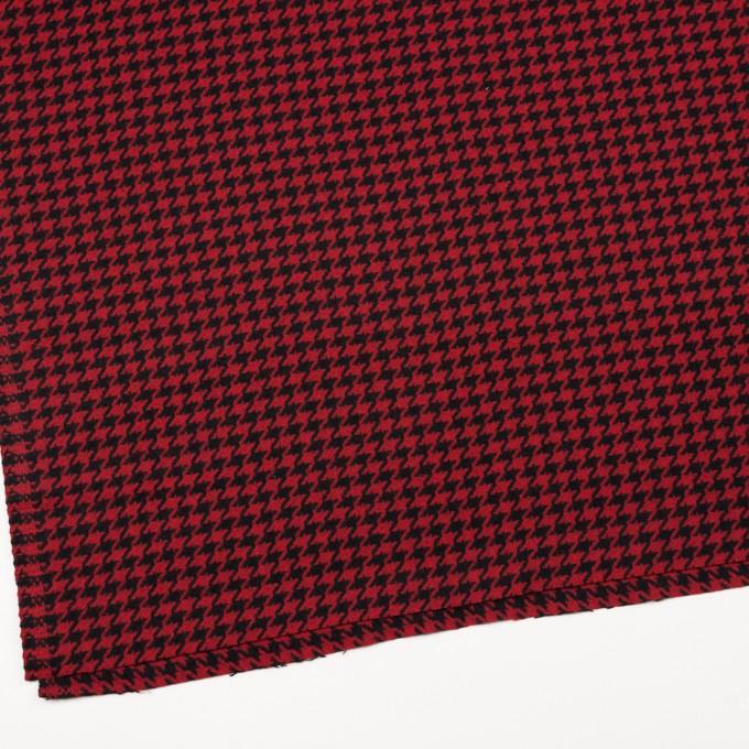 ウール&ナイロン×チェック(レッド&ブラック)×千鳥格子 イメージ2