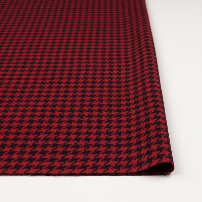 ウール&ナイロン×チェック(レッド&ブラック)×千鳥格子 イメージ3