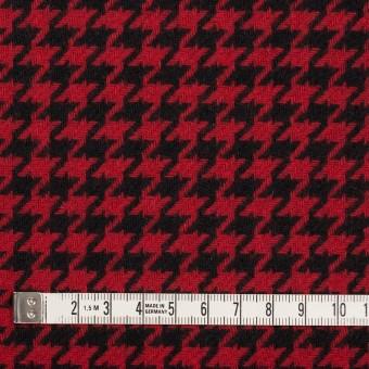 ウール&ナイロン×チェック(レッド&ブラック)×千鳥格子 サムネイル4
