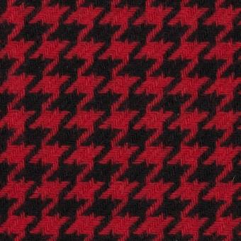 ウール&ナイロン×チェック(レッド&ブラック)×千鳥格子