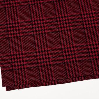 ウール&シルク×チェック(レッド&ブラック)×ジャガード サムネイル2