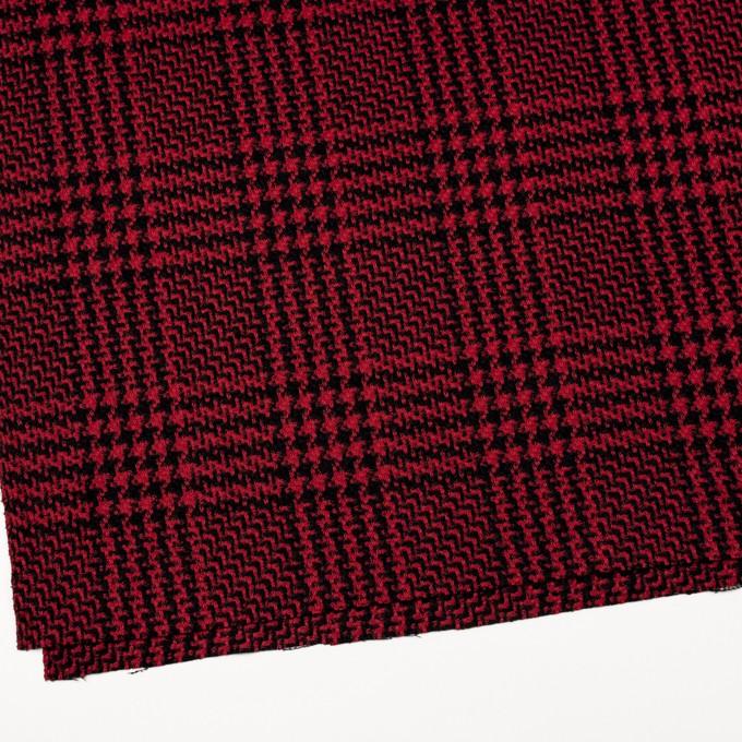 ウール&シルク×チェック(レッド&ブラック)×ジャガード イメージ2
