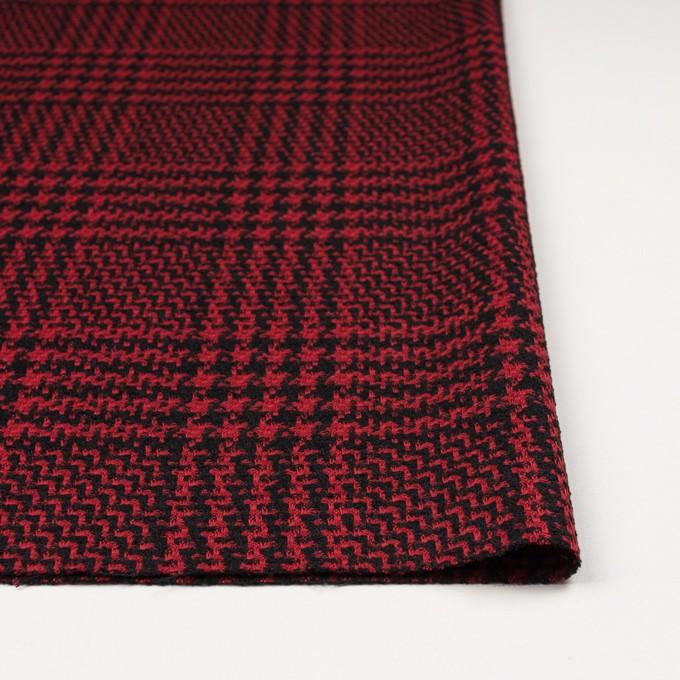 ウール&シルク×チェック(レッド&ブラック)×ジャガード イメージ3