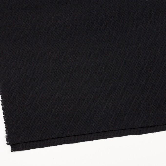 ウール×無地(ブラック)×かわり織_全3色 イメージ2