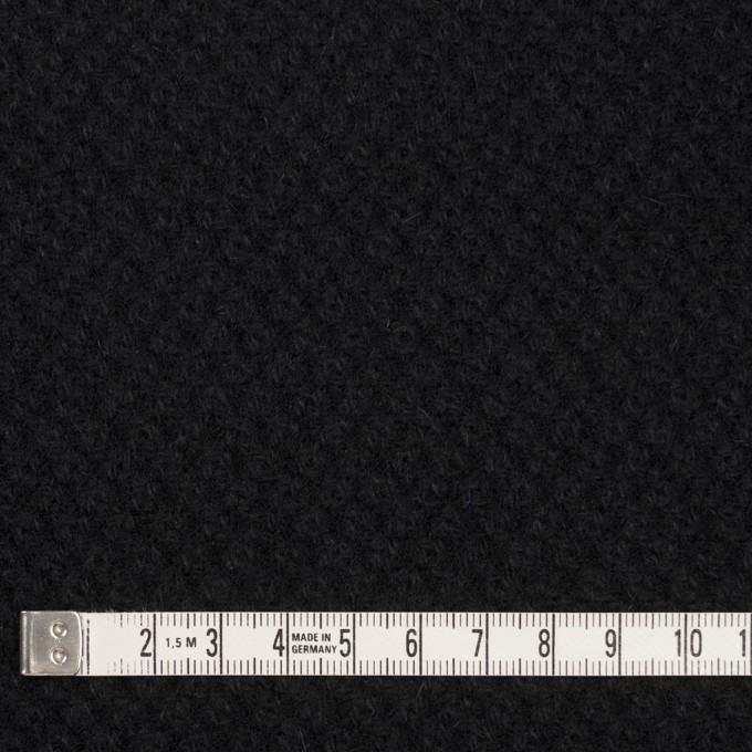 ウール×無地(ブラック)×かわり織_全3色 イメージ4