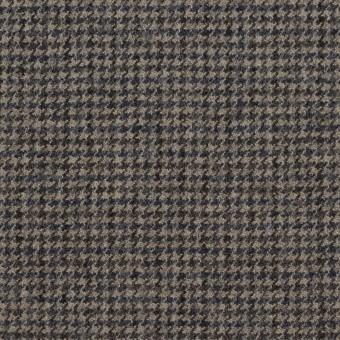 ウール×チェック(チャコール)×千鳥格子 サムネイル1