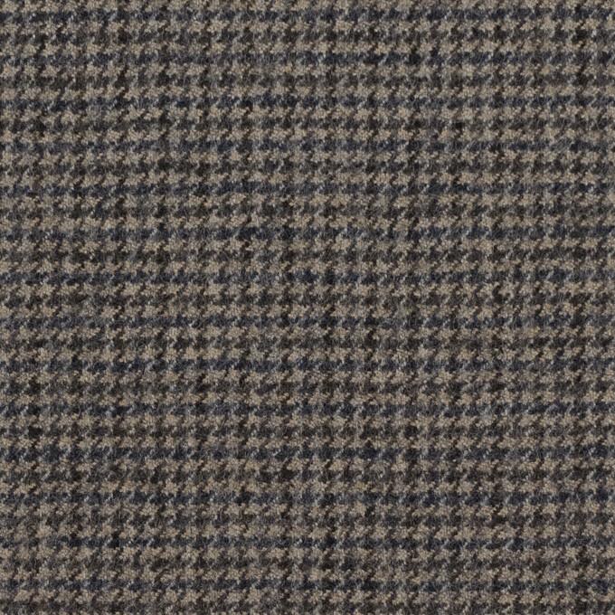 ウール×チェック(チャコール)×千鳥格子 イメージ1