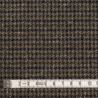 ウール&ナイロン混×チェック(カーキ&ネイビー)×千鳥格子ストレッチ_全2色 サムネイル4