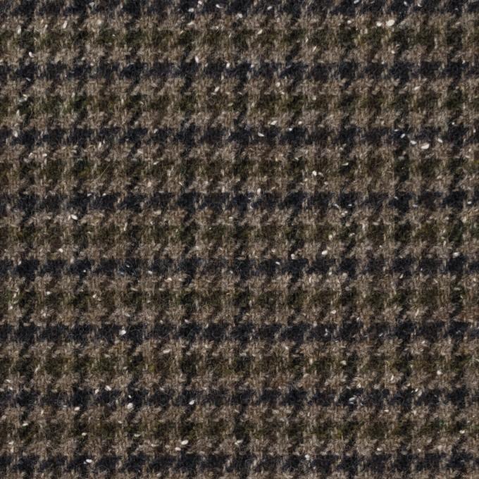 ウール&ナイロン混×チェック(カーキ&ネイビー)×千鳥格子ストレッチ_全2色 イメージ1