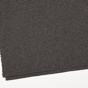 ウール&ナイロン混×チェック(ブラウン&ネイビー)×千鳥格子ストレッチ_全2色 サムネイル2