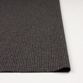 ウール&ナイロン混×チェック(ブラウン&ネイビー)×千鳥格子ストレッチ_全2色 サムネイル3