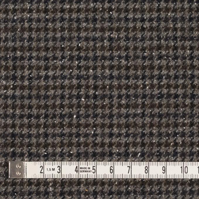 ウール&ナイロン混×チェック(ブラウン&ネイビー)×千鳥格子ストレッチ_全2色 イメージ4