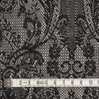 アクリル&ウール混×フラワー(ライトグレー&ブラック)×メッシュニット&ラッセルレース サムネイル4
