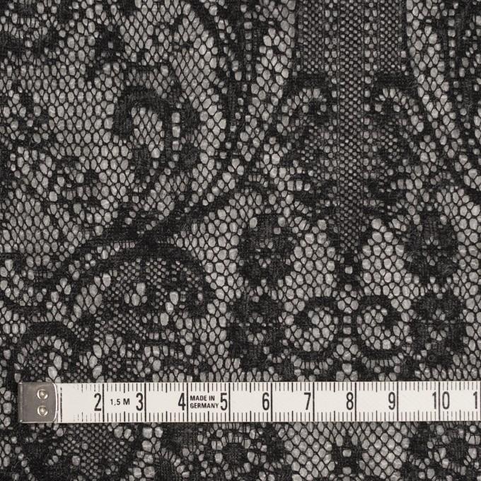 アクリル&ウール混×フラワー(ライトグレー&ブラック)×メッシュニット&ラッセルレース イメージ4