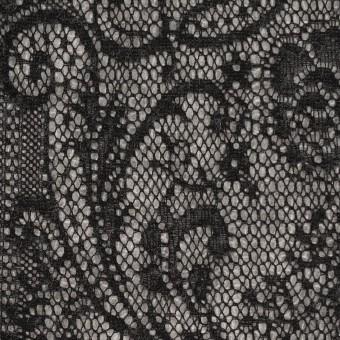 アクリル&ウール混×フラワー(ライトグレー&ブラック)×メッシュニット&ラッセルレース サムネイル1